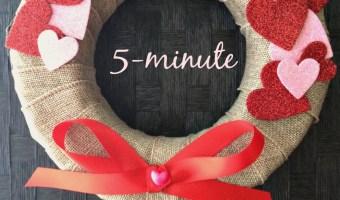 5 minute Valentine's wreath DIY