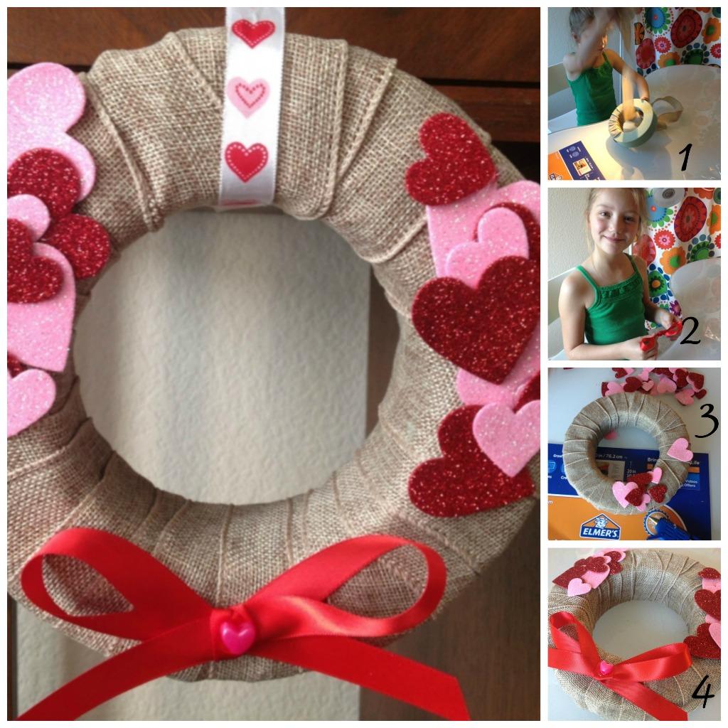 Easy DIY Valentine's wreath