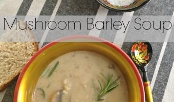 mushroom barley soup via milasmilieu.com