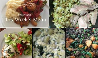 This Week's Menu | September