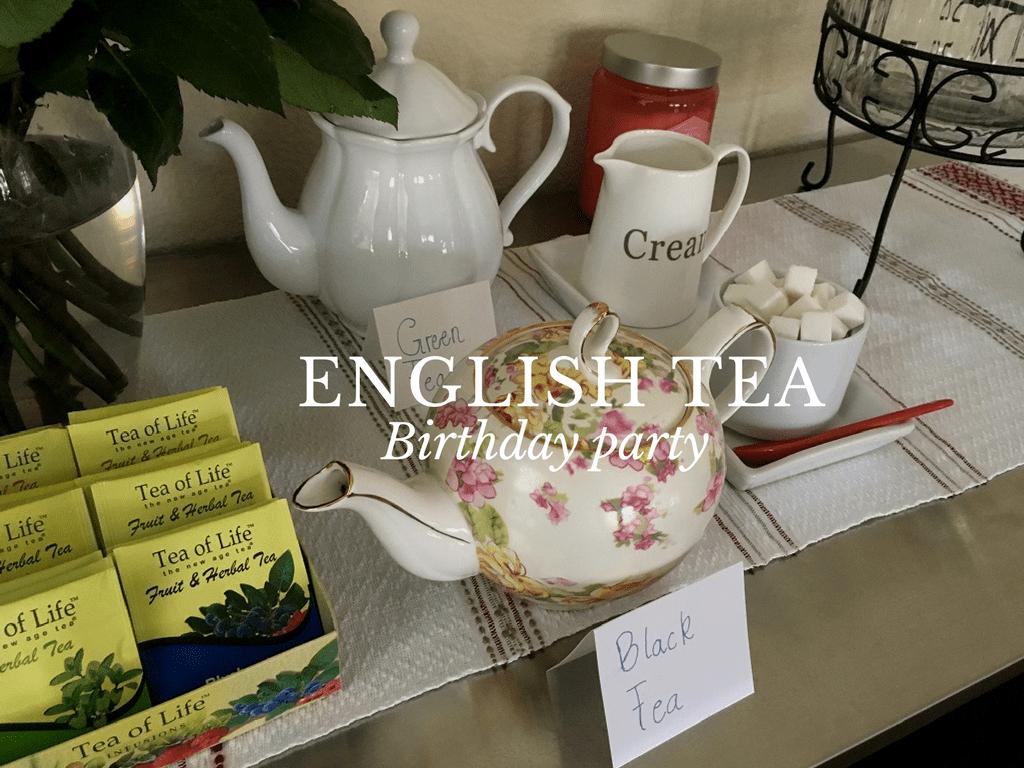 English tea birthday party