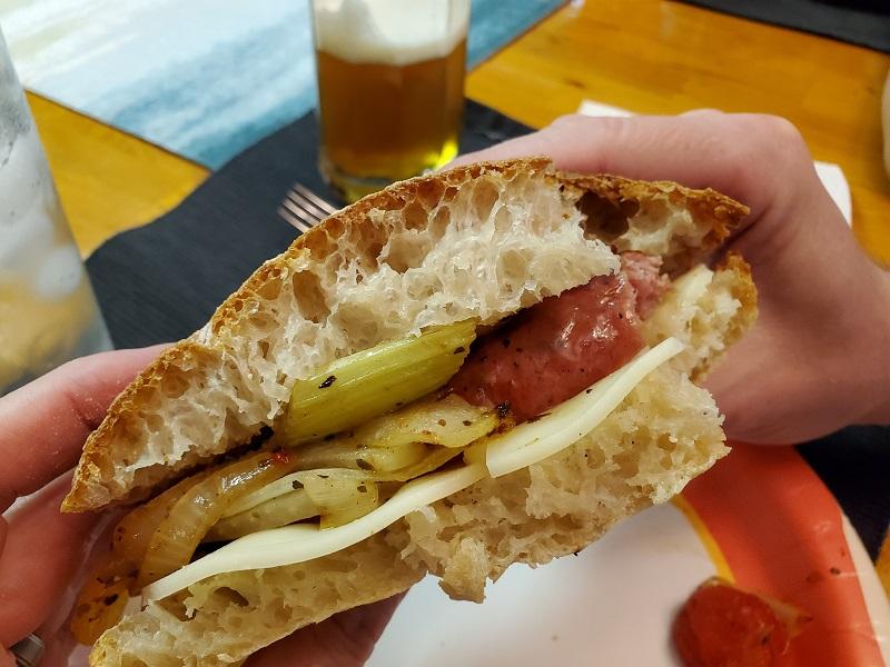 Italian sandwiches on home-made ciabatta