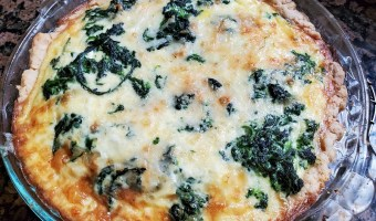 Quiche Florentine with home made crust