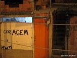 """Vidigal house. """"Coragem"""" instead of """"Garagem""""."""