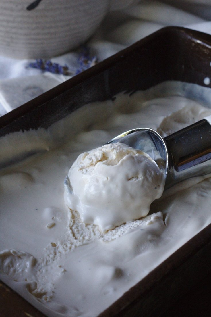 Lavender Lemon Earl Grey Ice Cream