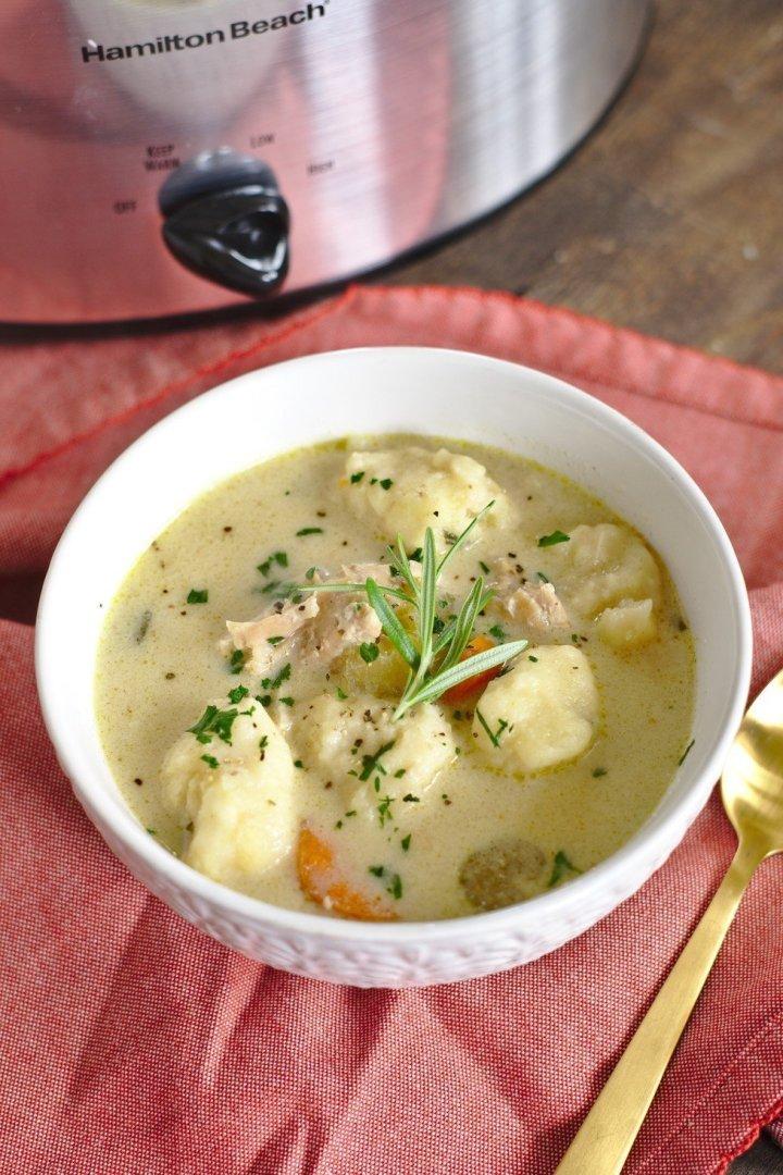 Slow Cooker Turkey Dumpling Soup