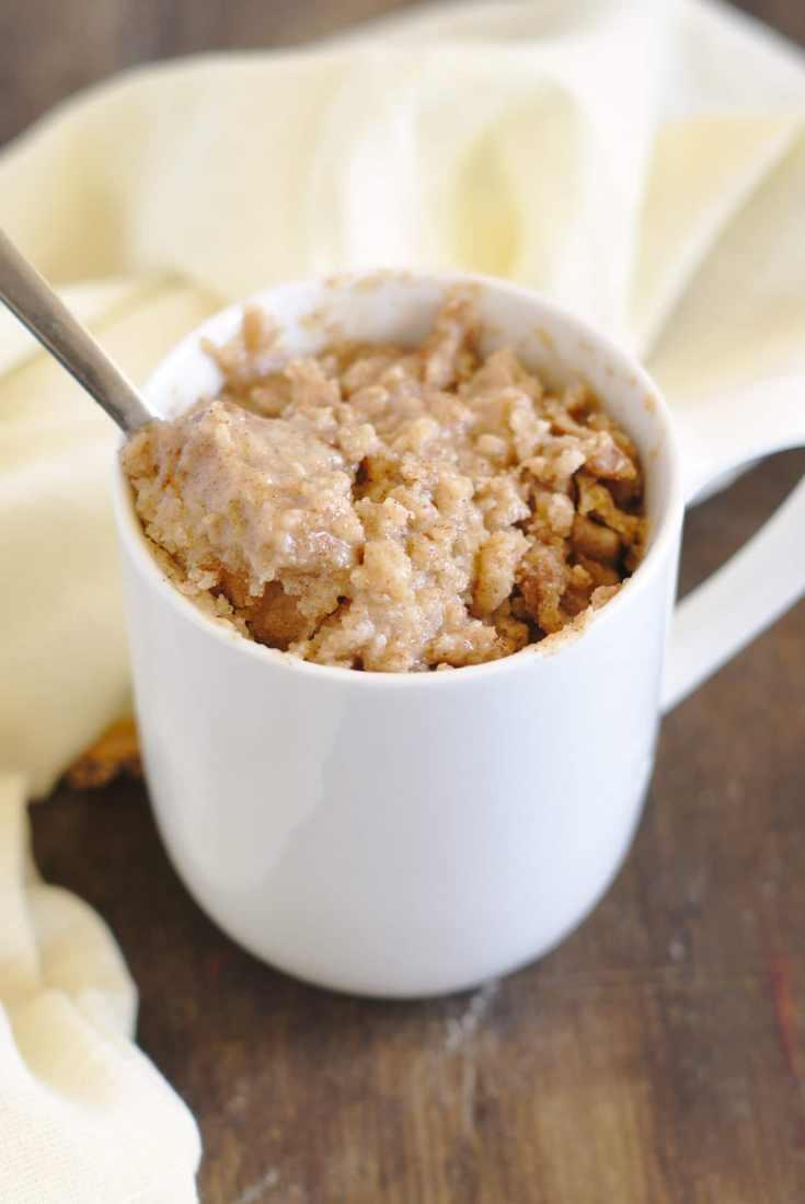 Coffee Cake Mug Cake