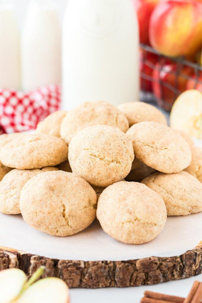 Apple Snickerdoodle Cookies