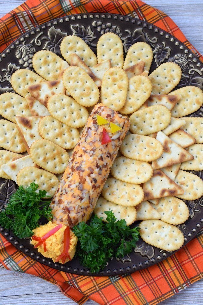 Turkey Cheese Appetizer + Homemade Pita Chips