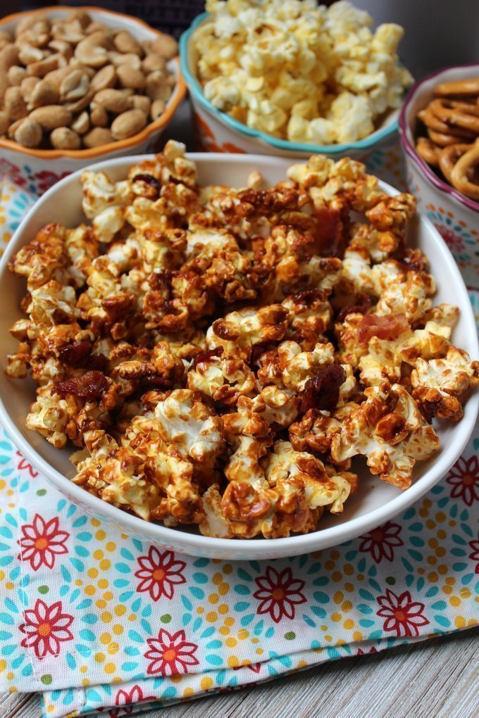 Salted Caramel Bacon Popcorn