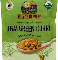 Village Harvest Microwaveable Organic Thai Green Curry Brown Basmati Rice 8.5 oz (Pack of 6)