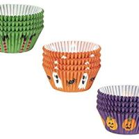 Halloween Cupcake Liners - 300-Piece Halloween Cupcake Wrappers Baking Supplies, Party Favors for Cake and Muffin Decorations, 3 Assorted Designs Including Pumpkin, Ghost and Spider, Witch