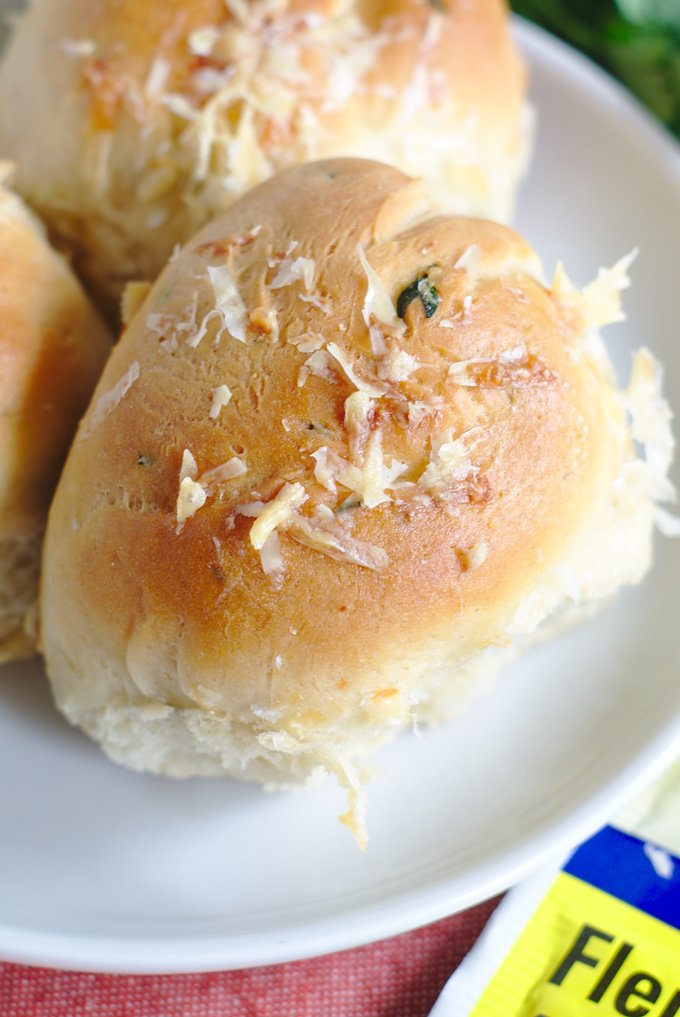 Cheesy Garlic Herb Dinner Rolls