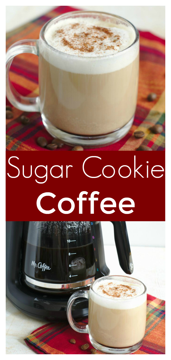 Sugar Cookie Coffee - A great holiday drink recipe made with just a few simple ingredients! Tastes just like a sugar cookie! Latte Recipe | Coffee Recipe | Holiday Drink Recipe #drink #drinks #easyrecipe #christmas