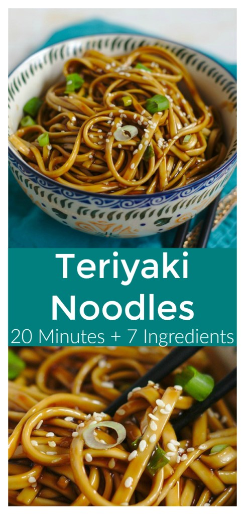 Teriyaki Noodles - A quick and easy meal ready in just 20 minutes! Asian noodles topped with a delicious and simple homemade teriyaki sauce! Japanese Recipe | Noodle Recipe | Teriyaki Recipe #japanese #recipe #easyrecipe #noodles #teriyaki