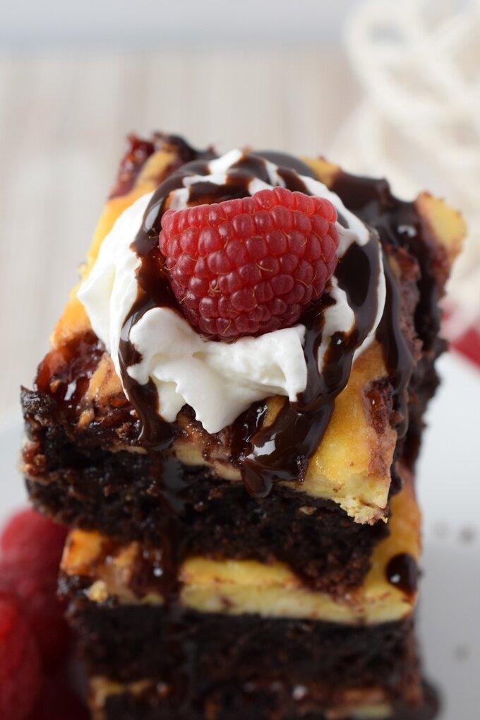 Raspberry Cheesecake Brownies Recipe