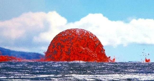 A lava dome