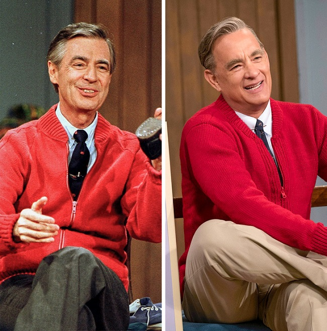 Tom Hanks and Fred Rogers