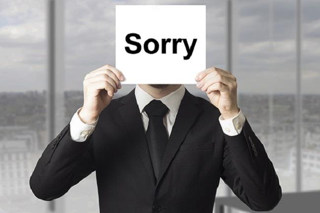Always apologizing or saying
