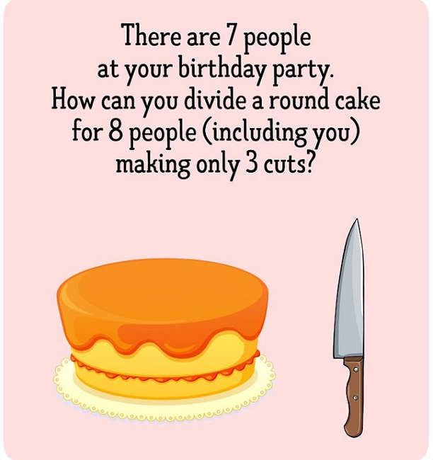 How to share a cake