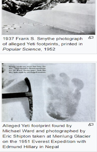 When a Sensational Indian Army Discovery of Large YETI Footprints