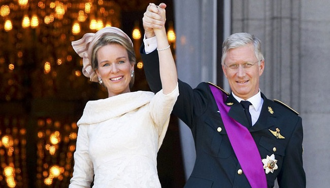 Prince Philippe Duke of Brabant and Mathilde