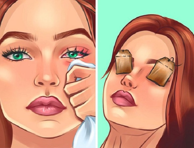 For reducing puffiness and red-eye