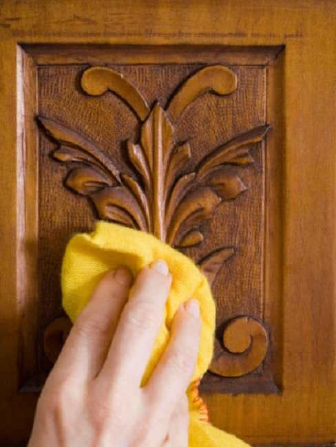 To clean wooden furniture and flooring