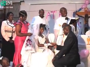 MUST SEE VIDEO...BRIDE GOES INTO LABOUR IN CHURCH DURING EXCHANGE OF VOWS!...WHAT HAPPENED NEXT?