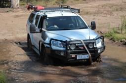 Chris 4WD Driver Training Braidwood - Crossing the mud pit snatc