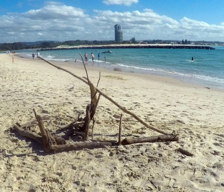 Currumbin beach art. Really is the best the Gold Coast has to offer