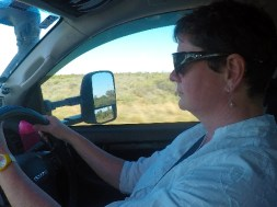 Outback Jo driving