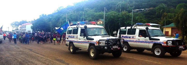 NAIDOC week parade in Cooktown
