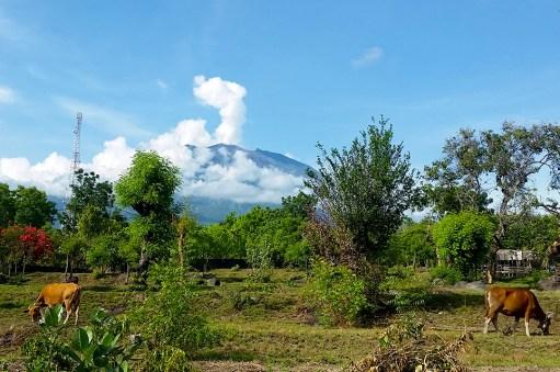 Mount Agung smoking
