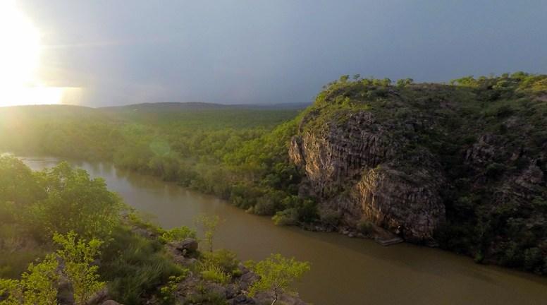 Sunset Monsoonal thunderstorm