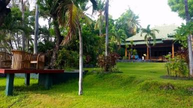 Our Villa backyard