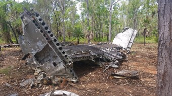 "B24-J Liberator crash site, aircraft called ""Milady"" was on a training mission and mysteriously crashed south of Darwin. One of so many site in the NT"
