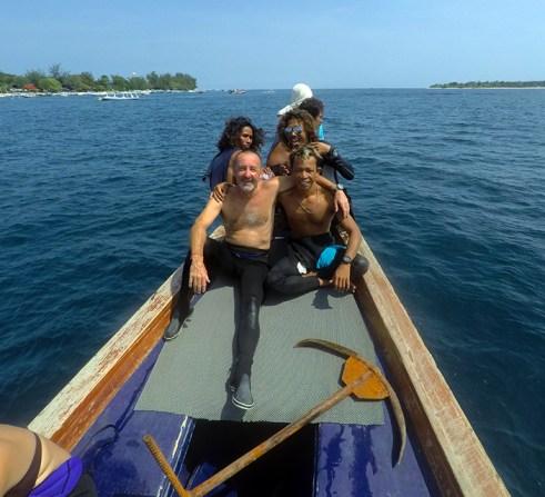 Boys on the bow