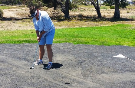 The first green at Ceduna (sorry sand)