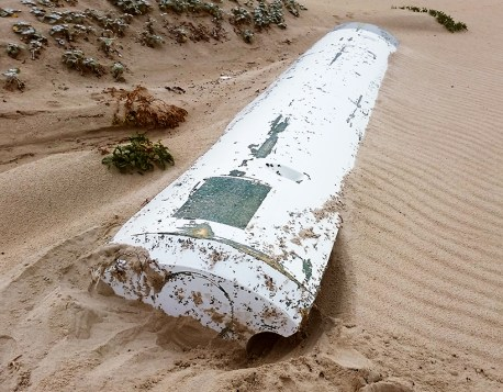 I don't know what exactly this is but i'm pretty sure it's not part of Malaysian Airlines MH370