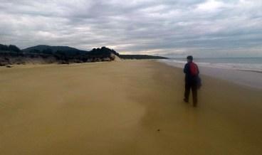 Matt walking 3 Mile Beach