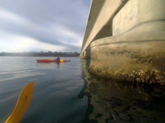 Under Causeway heading to Mile Beach
