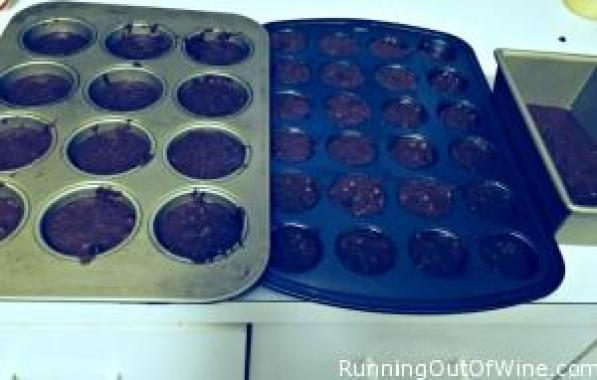chocolate chip veggie muffins batter