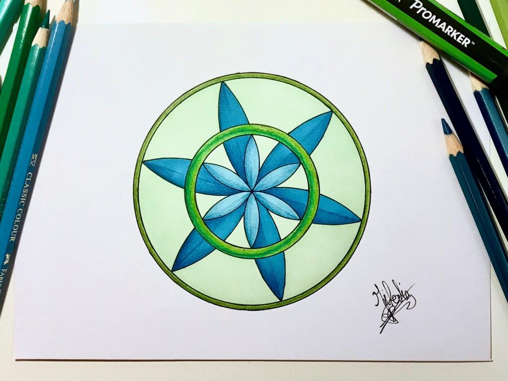 Mandala très simple. Par Miledia Craft.