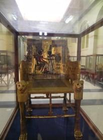 King Tutenkhamun's guilded throne