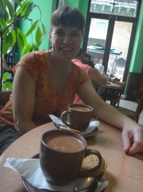 Hot Chocolate at the chocolate 'museum' (Aztec style for Elliott)