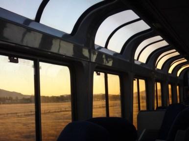 Dawn in the lounge car