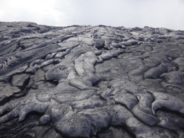 A young lava field