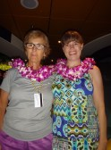 Two well-lei-ed ladies