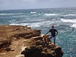 Overlooking the ocean